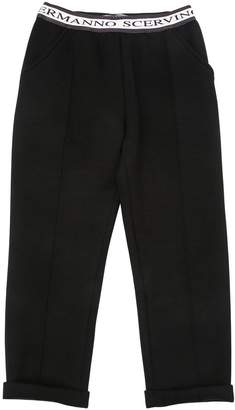 Ermanno Scervino Logo Printed Double Jersey Pants