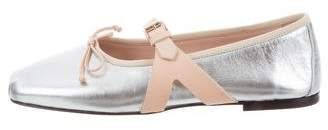 Giambattista Valli Leather Buckle-Accent Flats