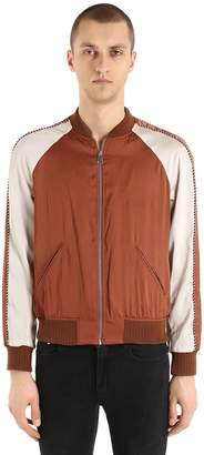 The Kooples Sunrise Zip-Up Satin Bomber Jacket