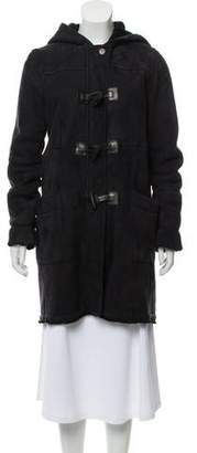 Prada Sport Leather Knee-Length Coat