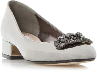 Dune LADIES BEEBIE - Jewel Trim Block Heel Court Shoe