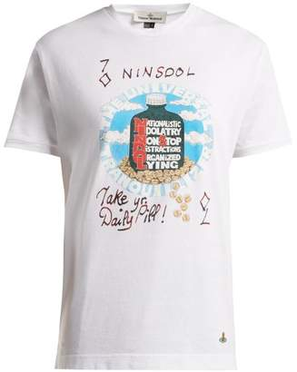 Vivienne Westwood Printed Cotton Jersey T Shirt - Womens - White