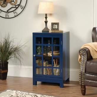 Sauder Carson Forge Display Cabinet, Indigo Blue