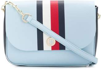 5dd297e2158cb Tommy Hilfiger stripe detail flap crossbody bag