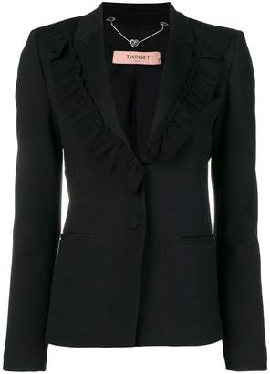 Twin-Set frill lapel blazer