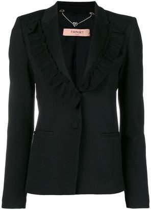 Twin-Set frill lapel blazer