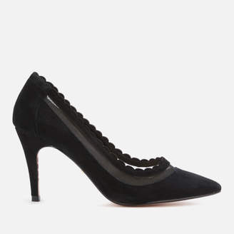 Dune Women's Britania Suede Court Shoes - Black