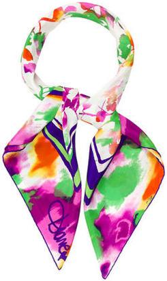 Diane von Furstenberg Printed Silk Scarf $80 thestylecure.com