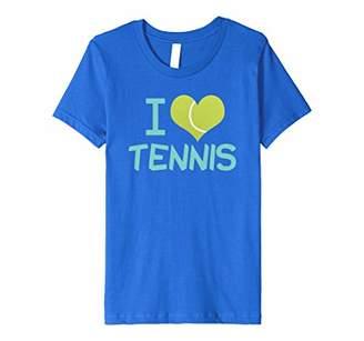 I Love Tennis T-Shirt - Cute Tennis Player Heart Gift