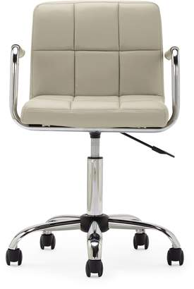 Next Cube Home Office Chair In Mink Faux Leather