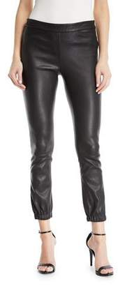 Halston Stretch Leather Leggings