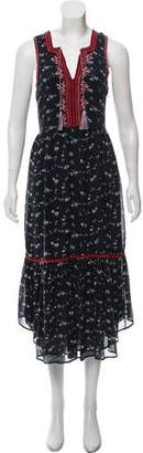 Ulla Johnson Silk Embroidered Floral Dress