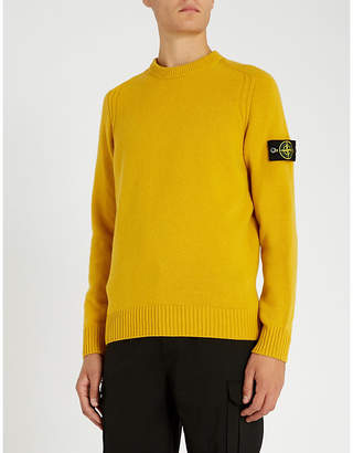Stone Island Logo patch lambswool jumper