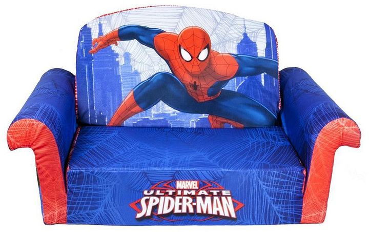 Spin master Marvel Ultimate Spider-Man Marshmallow 2-in-1 Flip Open Kids Sofa by Spin Master