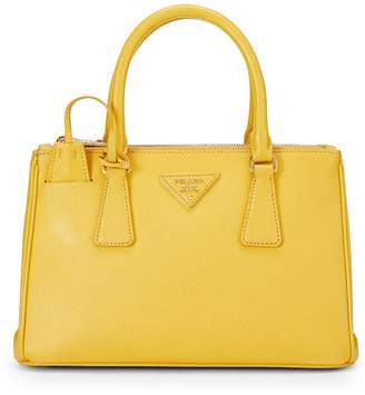 5a8bf83dce6c ... What Goes Around Comes Around · Prada Yellow Saffiano Leather Executive  Tote Small