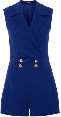 Dorothy Perkins Womens *Quiz Blue Sleeveless Playsuit