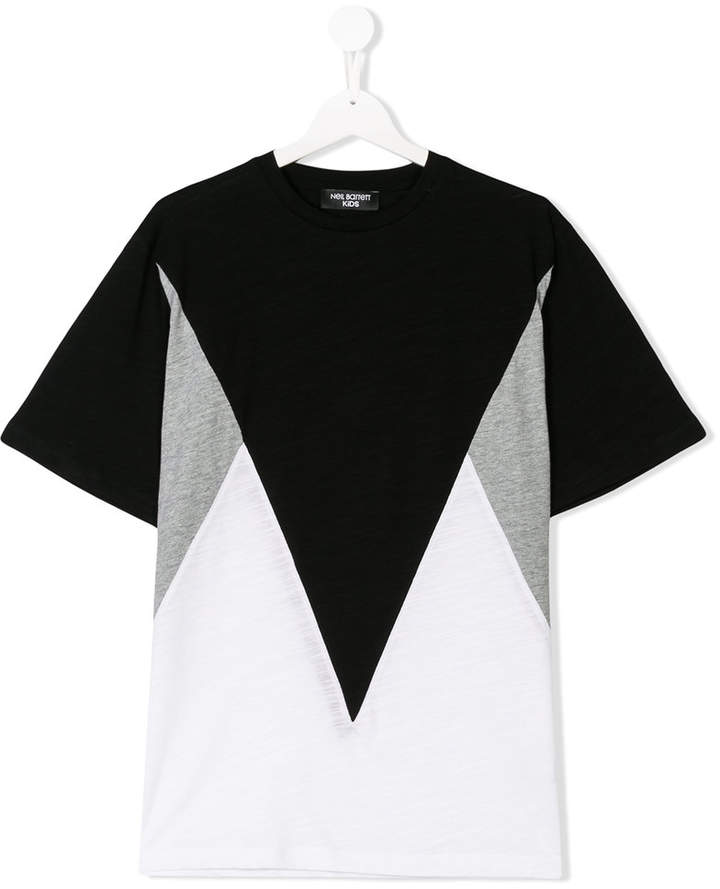 Neil Barrett Kids color block T-shirt