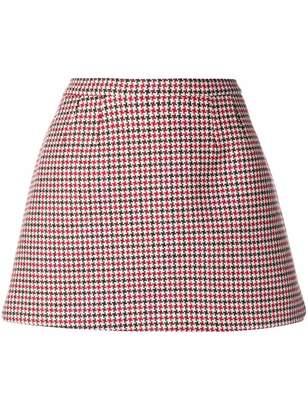 RED Valentino checked mini skirt