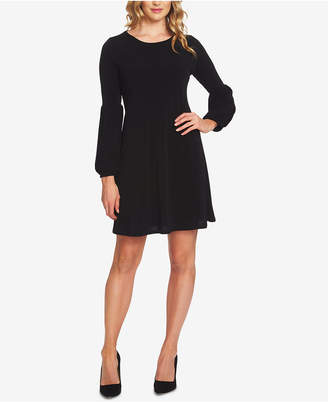 CeCe Puffed-Sleeve A-Line Dress