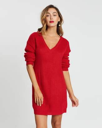 Missguided V-Neck Jumper Dress