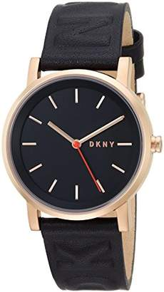 DKNY Women's 'SoHo' Quartz Stainless Steel and Leather Casual Watch