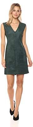 BCBGMAXAZRIA Azria Women's Malina Knit Faux Suede V-Neck Dress