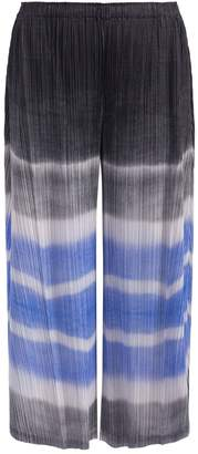 Pleats Please Issey Miyake Watery Striped Cropped Pants