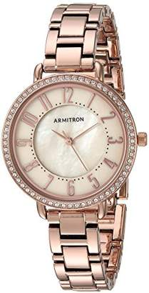 Swarovski Armitron Women's 75/5471TMRG Crystal Accented Easy to Read Dial -Tone Bracelet Watch