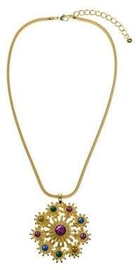 Kenneth Jay Lane Multicolored Flower Pendant Necklace