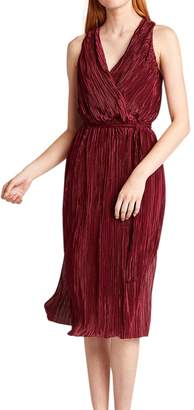 BB Dakota Happy Pleat Faux Wrap Dress