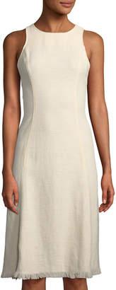 Astr Eugenia Tweed Midi Dress