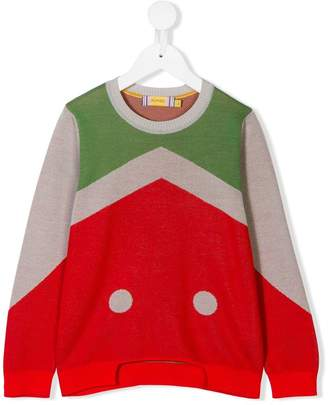 tMumofsix colourblock cut out pullover