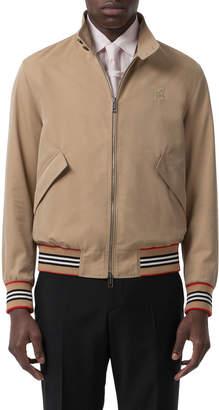 Burberry Men's Whitstable Striped-Trim Bomber Jacket