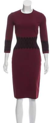 Alexander McQueen Midi Embroidered Knit Dress Midi Embroidered Knit Dress