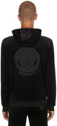 MeDusa Embroidered Velour Sweatshirt