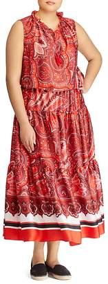 Lauren Ralph Lauren Plus Paisley-Print Maxi Dress