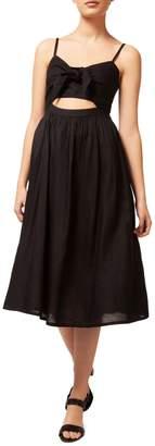 Dex Tie-Front Fit--Flare Dress