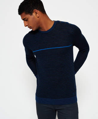 Superdry Call Sheet Merino Button Crew Neck Sweater