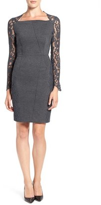 Women's Elie Tahari 'Serena' Lace Sleeve Sheath Dress $398 thestylecure.com