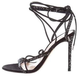 Gianvito Rossi Embellished Lace-Up Sandals