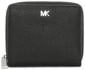 Michael Kors Snap Black Pebbled Leather Wallet