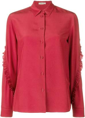 Bottega Veneta ruffled sleeve shirt
