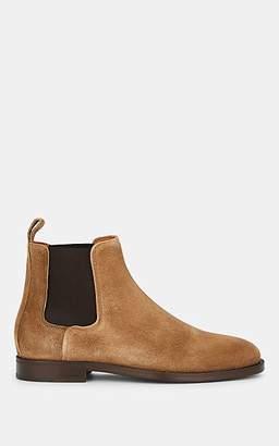 Lanvin Men's Suede Chelsea Boots - Beige, Tan