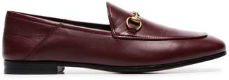 Gucci burgundy Brixton leather loafers
