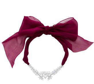 Fallon Crystal Embellished Tuxedo Bow Choker Necklace