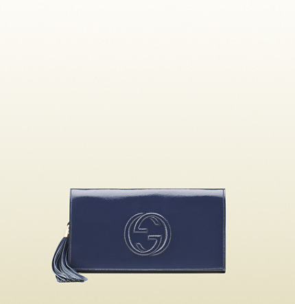 Gucci Soho Soft Patent Leather Clutch