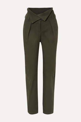 The Range - Stretch-cotton Twill Tapered Pants - Green