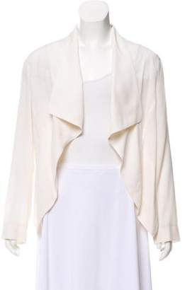 Yigal Azrouel Silk Open Front Jacket