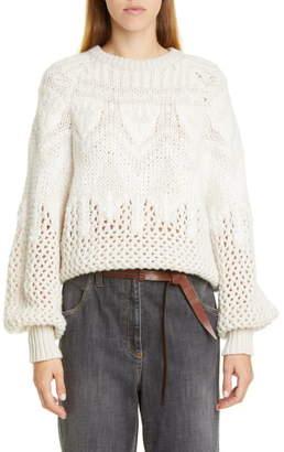 Brunello Cucinelli Brunello Cucinello Fair Isle Cashmere & Silk Sweater