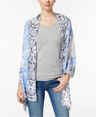INC International Concepts Lace Print Wrap & Scarf in One, Only at Macy's $36 thestylecure.com